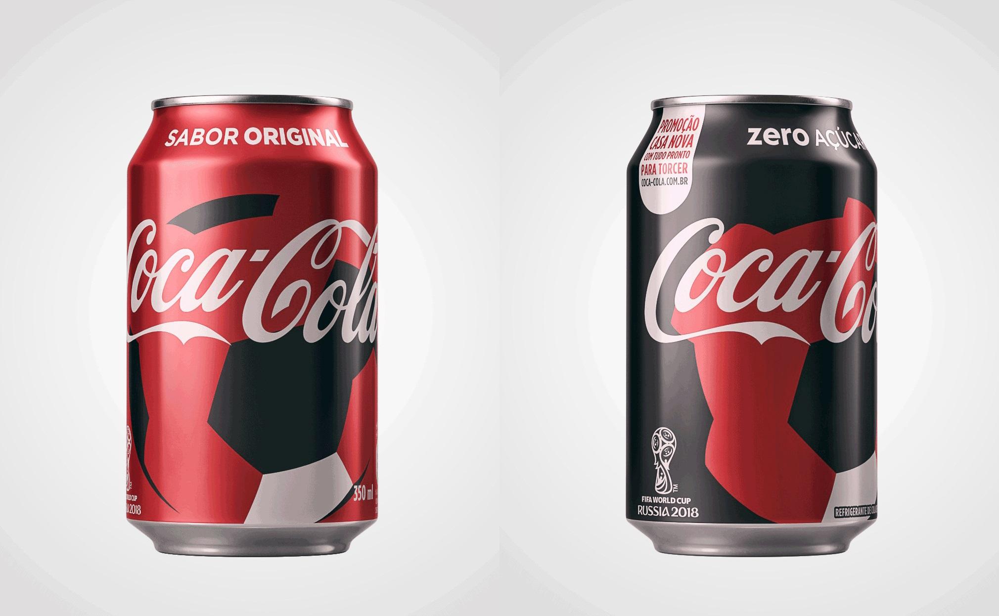 Latas Coca-Cola COPA 2018 - Promoção da Coca Cola vai dar uma casa Copa do Mundo